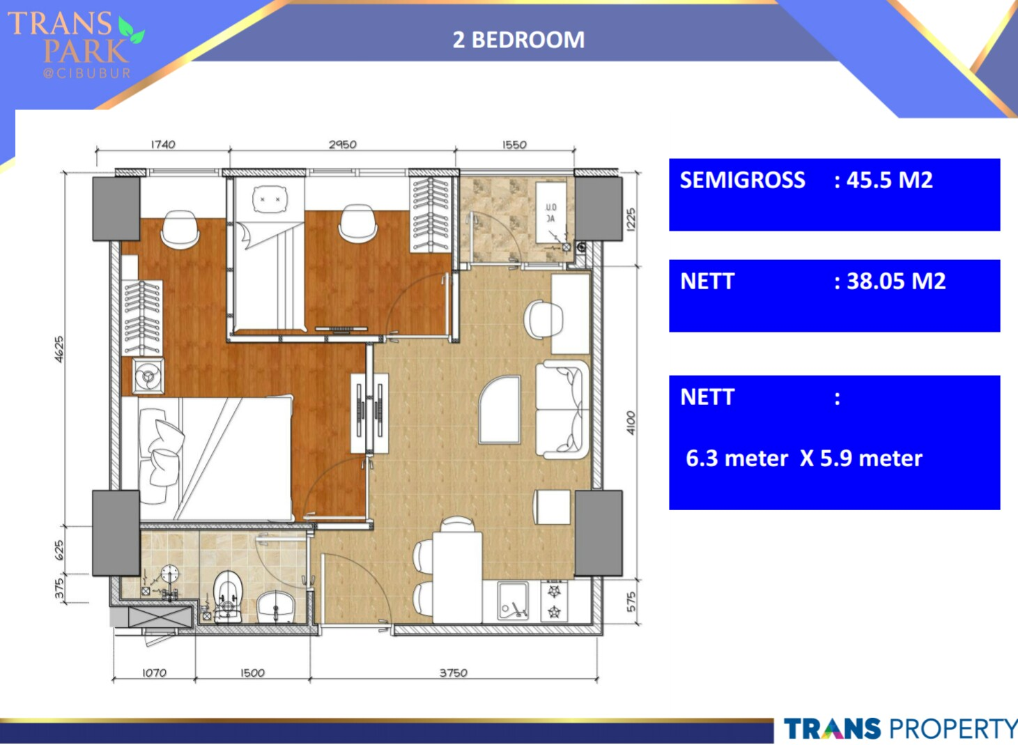 Type Unit - Trans Park Cibubur Apartment