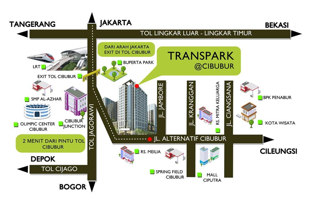 Trans-park-lokasi