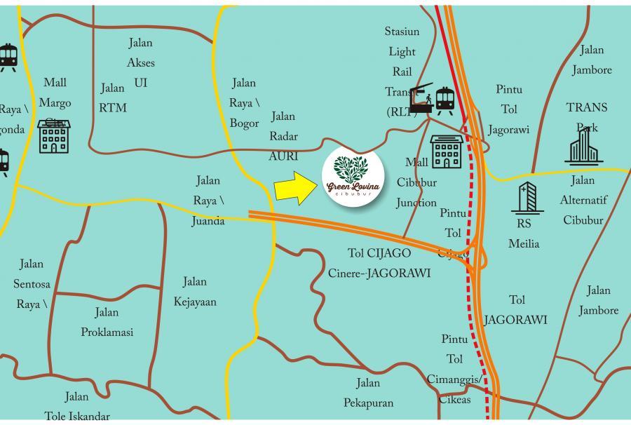 lokasi-green-lovina-cibubur